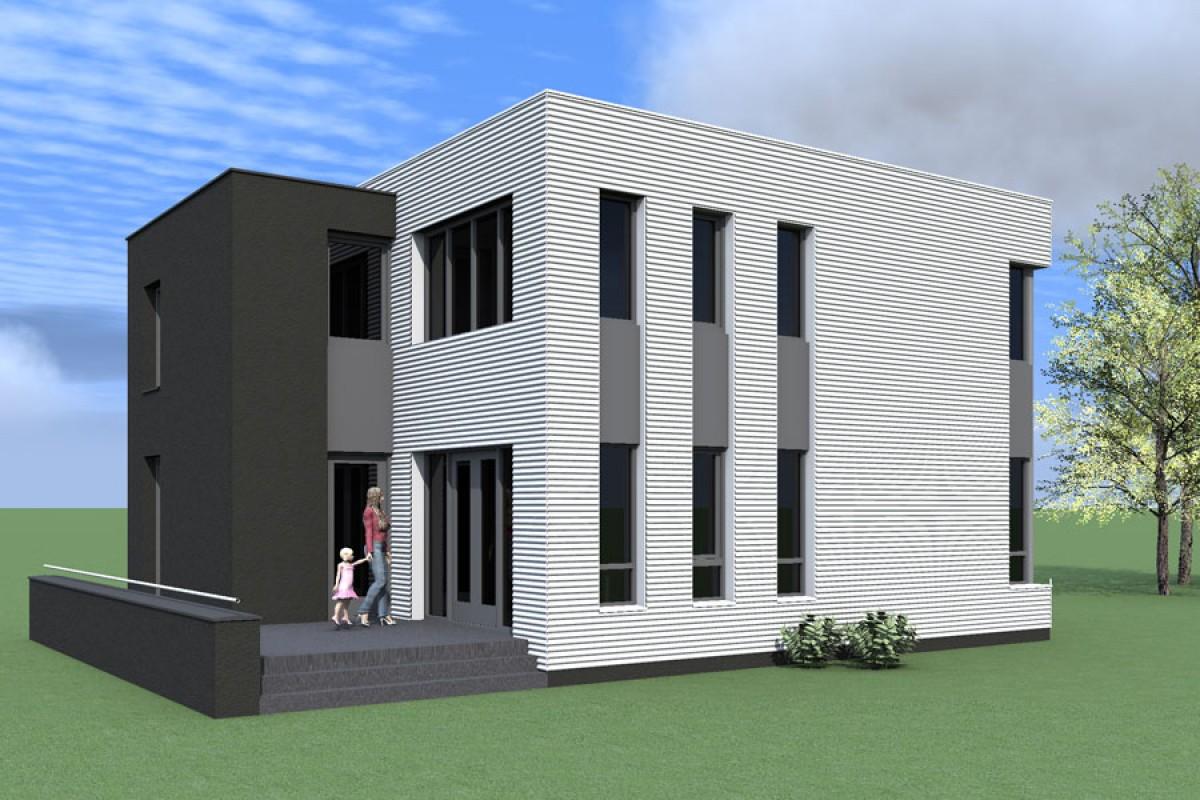 passiefhuis simpliromatikós ongebouwd