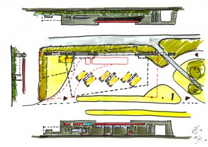BLM Architecten Enschede foto van project tankstation Avia-Express Kuipersdijk te Hengelo