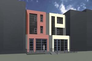 BLM Architecten Enschede foto van project twee woningen roombeek te enschede