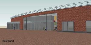 BLM Architecten Enschede foto van project studie revitalisering gevel winkelcentrum 't Rond te Winschoten