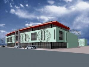 BLM Architecten Enschede foto van project bedrijfshuisvesting blom te hengelo