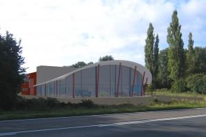 BLM Architecten Enschede foto van project garage met showroom oosterveld te hengelo
